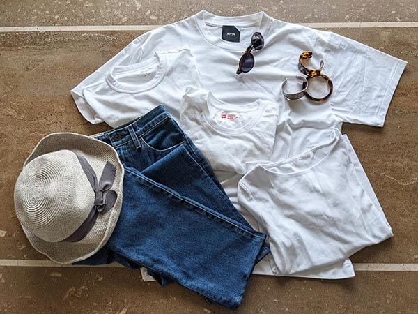 大人体型をカバーするシンプルな白Tシャツの選び方