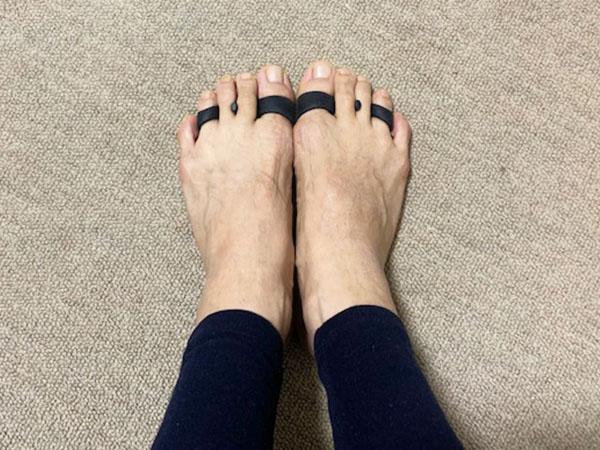 姿勢矯正の大山式足指パッド