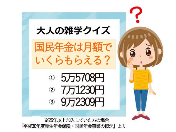 大人の雑学クイズ:年金はいくらもらえる?