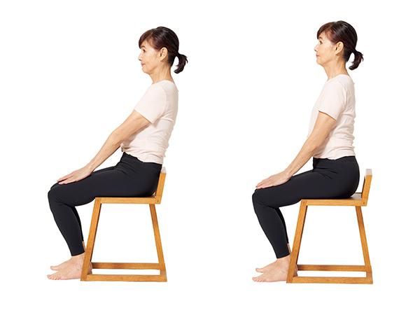 ぽっこりお腹をなくす座るときに骨盤の歪みを取る体操