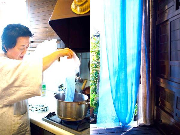 8月:夏の窓辺 ガーゼを染めて涼やかに
