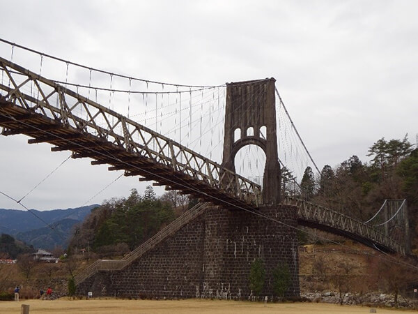 桃介橋を目指して