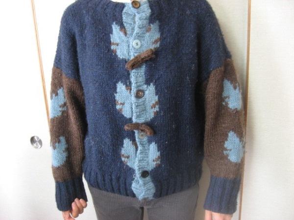 使い古しセーターをカーディガンに!?簡単リフォーム