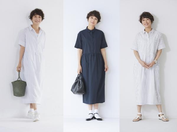 黒田知永子さんの素敵な50代からのワンピースコーデ