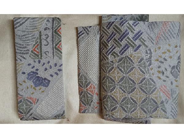 絞りの羽織で作った二部式の帯