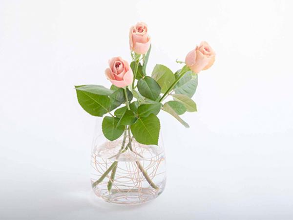 コップ・花瓶で生けるときに、花の位置が安定するワザ