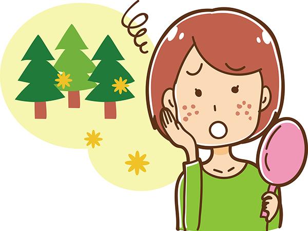 花粉症による肌荒れ