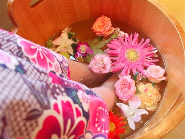 京都の足湯