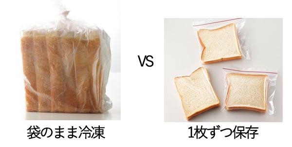 食パンをおいしく冷凍保存する方法は?