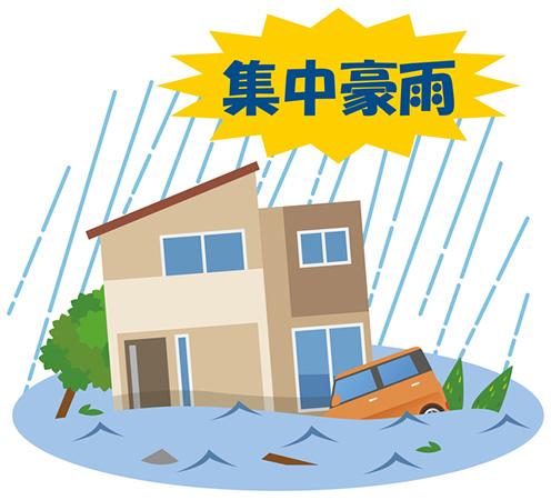 集中豪雨による洪水
