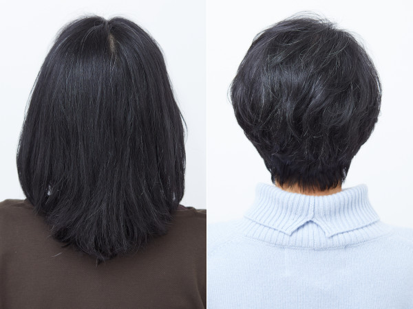 イメチェンビフォーアフター(髪型):バック