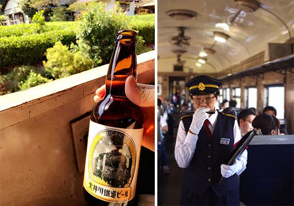 大井川鐵道ビール SLおばさん(愛称)のハモニカ演奏