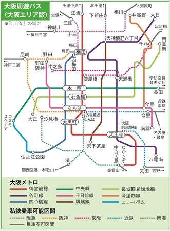 大阪市内で一番広域で使える大阪周遊フリーパス