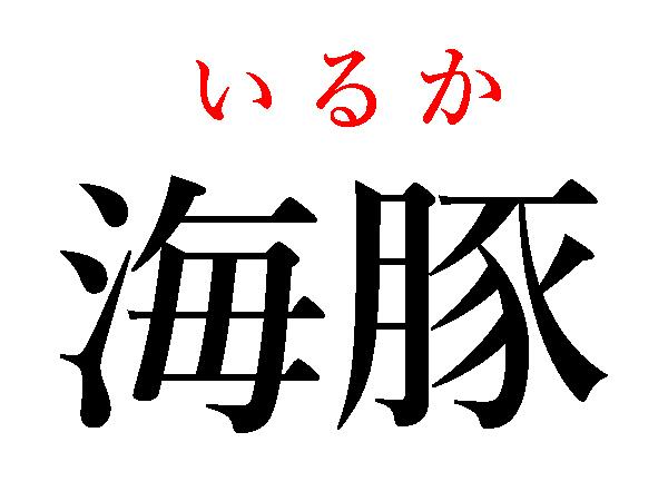 海の生物の漢字で海豚はいるか