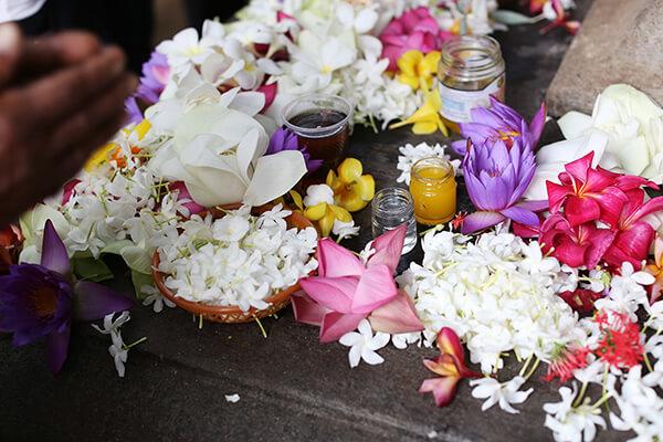 たくさんのお祈りがあることが花の数でわかる