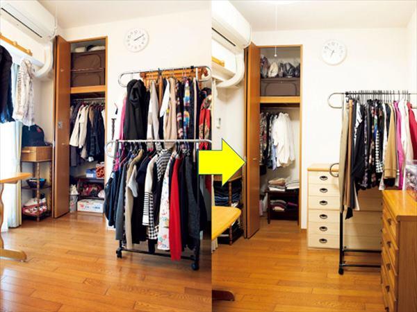 クローゼットの整理整頓:衣類を捨てる基準