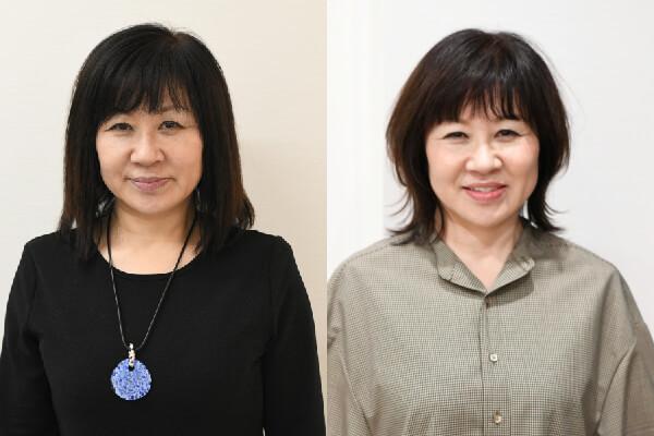 50代髪型ヘアカタログ:ミディアム(ビフォーアフター)