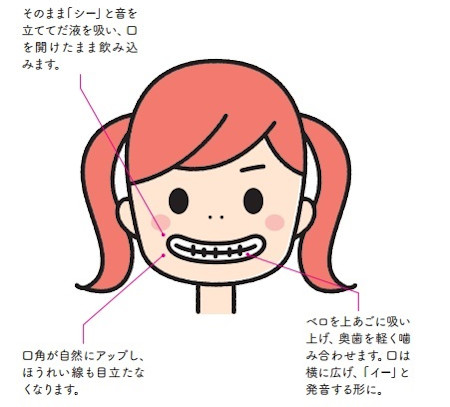 口角を上げることで、ほうれい線が目立たなくなります