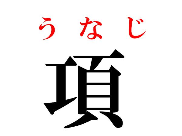 難読漢字】項や蟀谷の読み方・体に関する漢字5選 | ハルメク暮らし