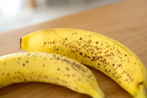 スイートスポットが出ているバナナ