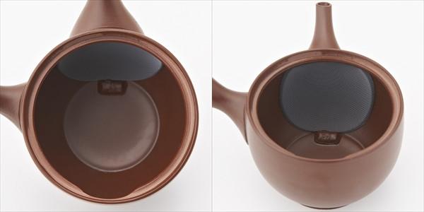 よく出る急須:急須の内側が茶葉が広がりやすいドーム型構造