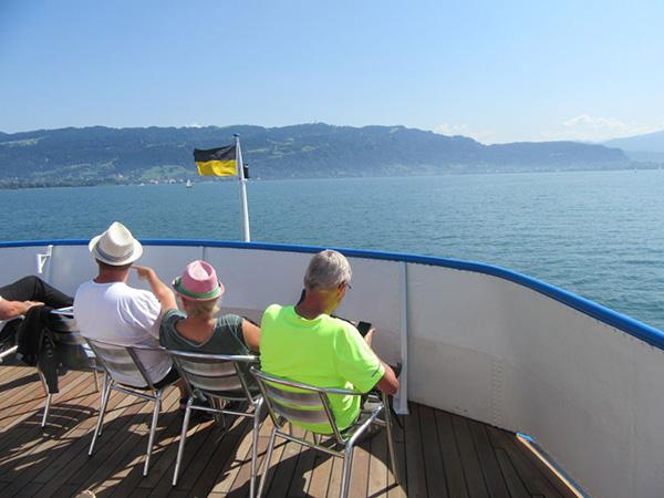 ドイツ・スイス・オーストリアにまたがるボーデン湖。乗り換えのオーストリアまで約20分