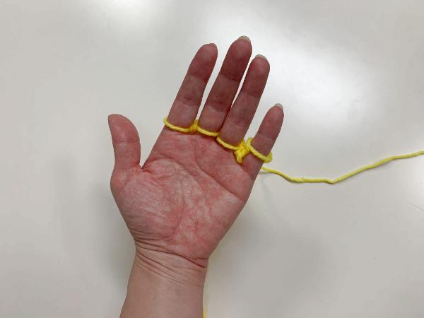 指編みエコたわしの作り方