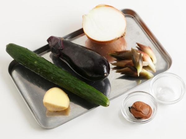 簡単!野菜の塩もみの材料
