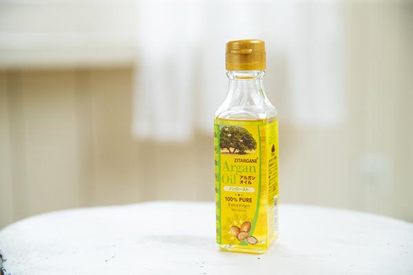 ヘアケアには、食用のアルガンオイルを使用