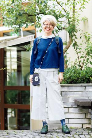 70代ファッションのお手本:内原加代子さん(71歳)