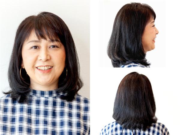 ぽっちゃり丸顔さんにおすすめのミディアムヘア