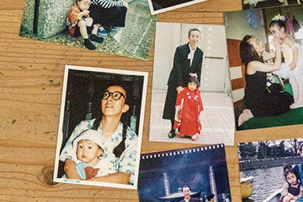 書籍にも、子育てをしていた頃の銀粉蝶さんの写真が!ほんとにおさげです