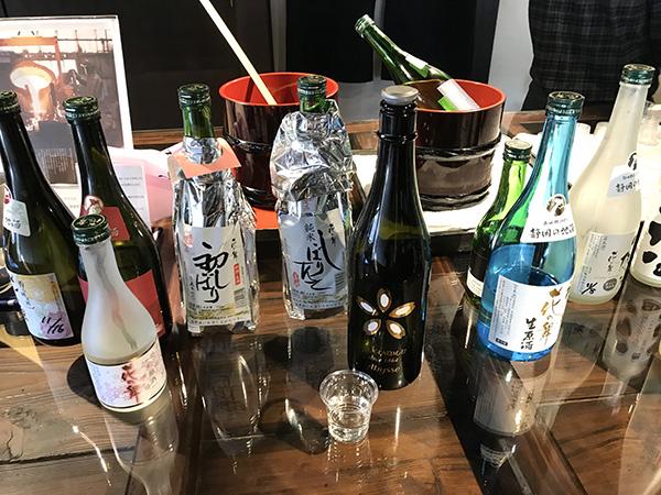 試飲できる日本酒の種類が多い