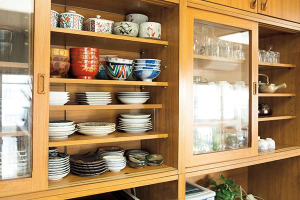食器棚の片付けアフター画像