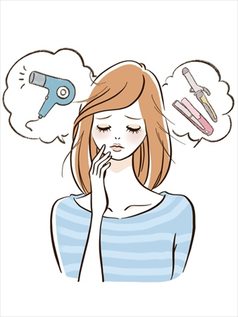 女性の髪が乾燥する主な原因