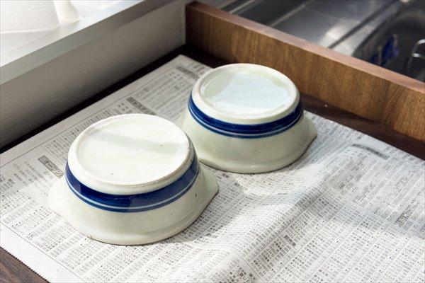 陶器の底のカビ:日に当てて乾燥させる