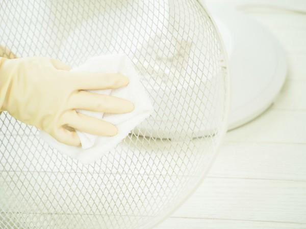 扇風機の掃除の手順