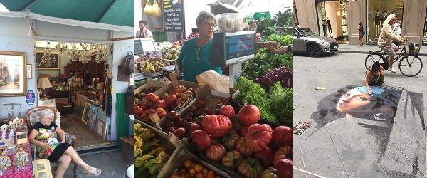 イタリアの市場や蚤の市