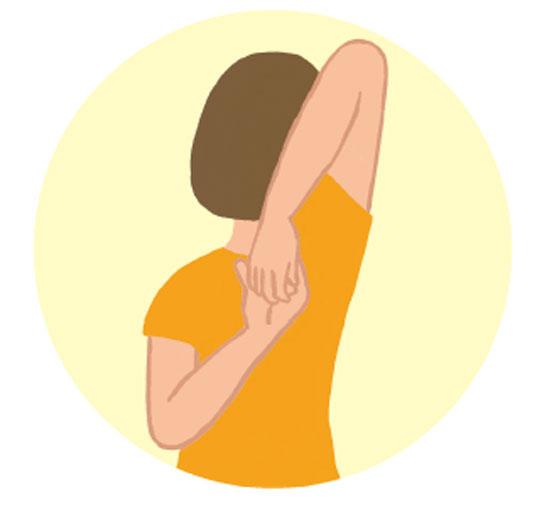 ゆるめる動き1:背中で握手