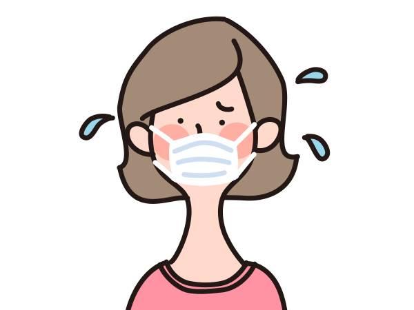 マスクを着け続けると、熱中症と肌荒れになりやすい?