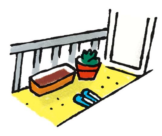 寒いところ(ベランダ、庭、窓の外側)