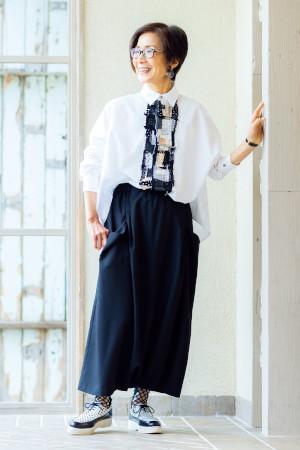 70代女性のファッションコーディネート:本田政子さん(72歳)
