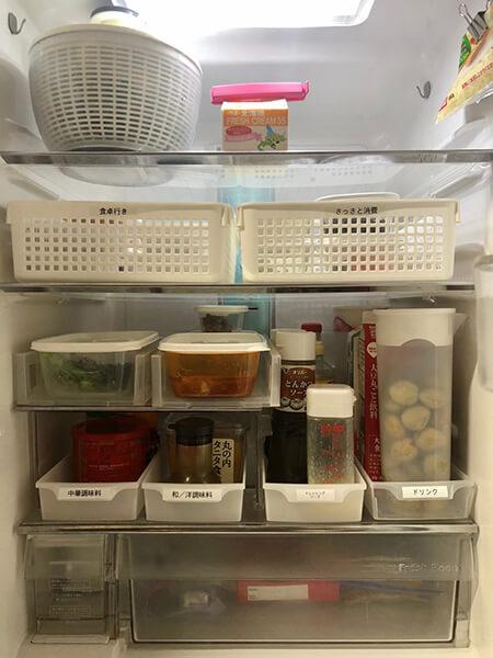 冷蔵庫の食材は種類別に保管