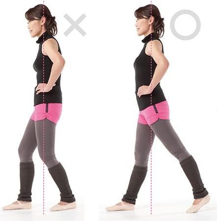 歩く重心は中心にありますか?