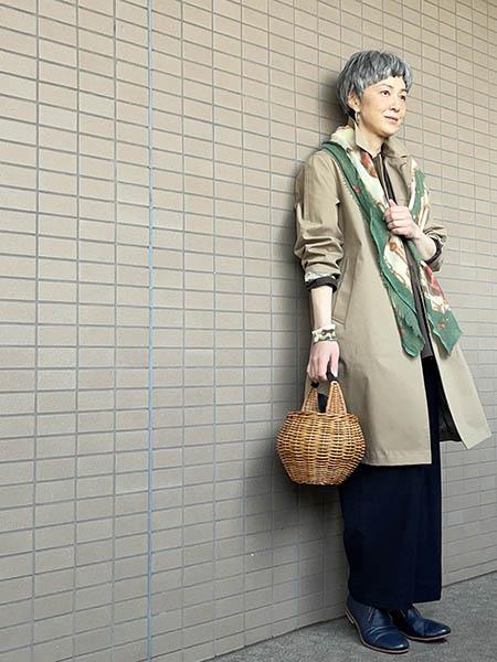 かごバッグは、どんなスタイルにも合います