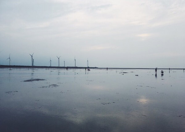 台湾のウユニ塩湖と呼ばれている「高美湿地」