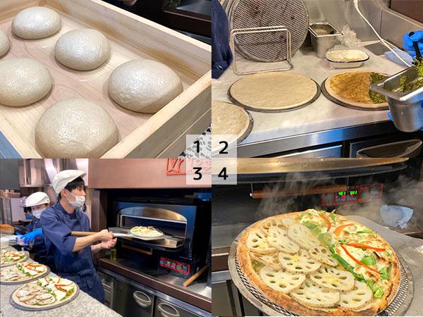ザ・レール・キッチン・チクゴのピザ