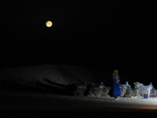 サハラ砂漠の夜