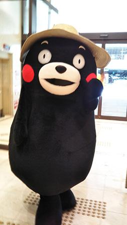 元気をくれる、地元熊本の人気物者・働き者のクマモン