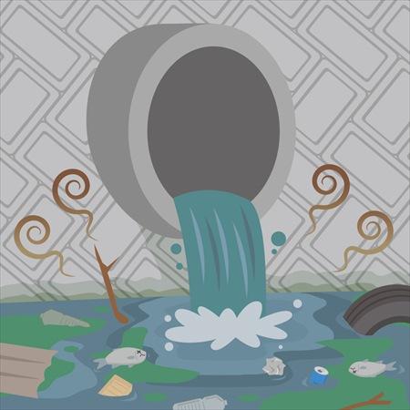 排水溝が臭い原因2:下水道の臭いの逆流